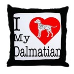 I Love My Dalmatian Throw Pillow