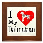 I Love My Dalmatian Framed Tile