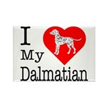 I Love My Dalmatian Rectangle Magnet (10 pack)