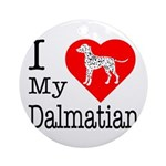 I Love My Dalmatian Ornament (Round)