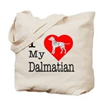 I Love My Dalmatian Tote Bag
