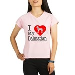 I Love My Dalmatian Performance Dry T-Shirt
