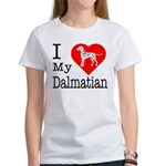 I Love My Dalmatian Women's T-Shirt