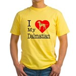 I Love My Dalmatian Yellow T-Shirt