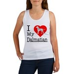 I Love My Dalmatian Women's Tank Top