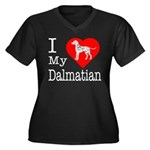 I Love My Dalmatian Women's Plus Size V-Neck Dark