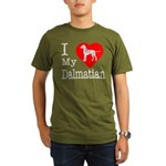 I Love My Dachshund Organic Men's T-Shirt (dark)