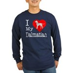 I Love My Dalmatian Long Sleeve Dark T-Shirt