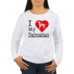 I Love My Dalmatian Women's Long Sleeve T-Shirt