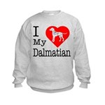 I Love My Dalmatian Kids Sweatshirt