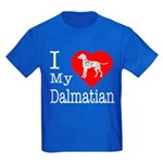 I Love My Dalmatian Kids Dark T-Shirt