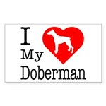 I Love My Dalmatian Sticker (Rectangle 50 pk)