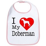 I Love My Doberman Pinscher Bib