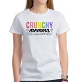 CRUNCHY MOMMA white Tee-Shirt
