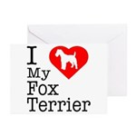 I Love My Fox Terrier Greeting Cards (Pk of 10)
