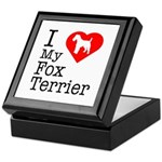 I Love My Fox Terrier Keepsake Box