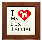 I Love My Fox Terrier Framed Tile