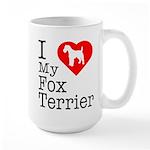 I Love My Fox Terrier Large Mug