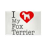 I Love My Fox Terrier Rectangle Magnet