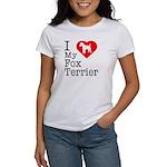 I Love My Fox Terrier Women's T-Shirt