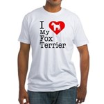 I Love My Fox Terrier Fitted T-Shirt