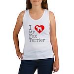 I Love My Fox Terrier Women's Tank Top