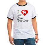 I Love My Fox Terrier Ringer T