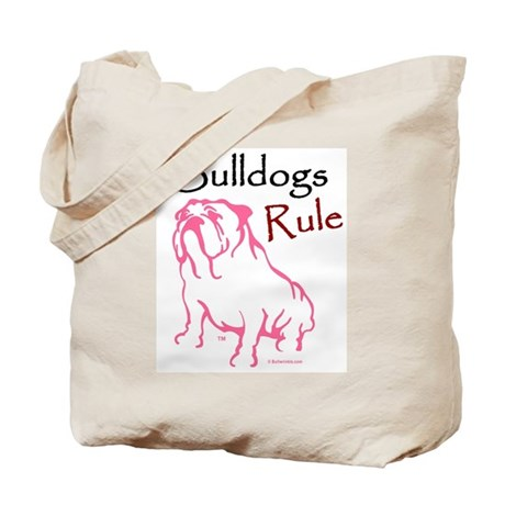 Bulldogs Rule Pink/Tote Bag