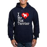 I Love My Fox Terrier Hoodie (dark)