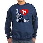 I Love My Fox Terrier Sweatshirt (dark)
