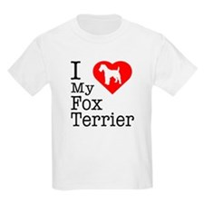 I Love My Fox Terrier T-Shirt