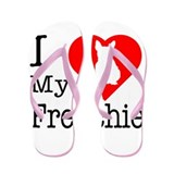 I Love My Frenchie Flip Flops