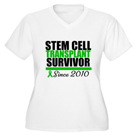 SCT Survivor 2010 Women's Plus Size V-Neck T-Shirt