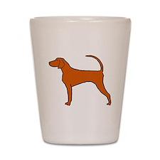 Redbone Coonhound Shot Glass