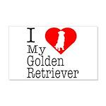 I Love My Golden Retriever 22x14 Wall Peel