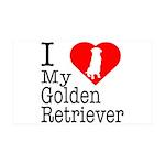 I Love My Golden Retriever 38.5 x 24.5 Wall Peel