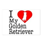 I Love My Golden Retriever Postcards (Package of 8