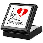 I Love My Golden Retriever Keepsake Box
