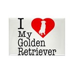 I Love My Golden Retriever Rectangle Magnet (100 p