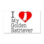 I Love My Golden Retriever Car Magnet 20 x 12