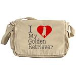 I Love My Golden Retriever Messenger Bag