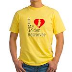 I Love My Golden Retriever Yellow T-Shirt
