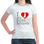 I Love My Golden Retriever Jr. Ringer T-Shirt