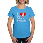 I Love My Golden Retriever Women's Dark T-Shirt