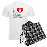 I Love My Golden Retriever Men's Light Pajamas