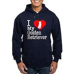 I Love My Golden Retriever Hoodie (dark)