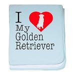 I Love My Golden Retriever baby blanket
