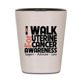 I Walk Uterine Cancer Shot Glass