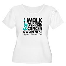 I Walk Ovarian Cancer T-Shirt