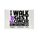 I Walk GIST Cancer Rectangle Magnet
